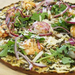 Organic Shrimp on Gluten Free Pizza